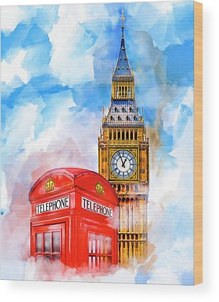 Big Ben Mixed Media Wood Prints