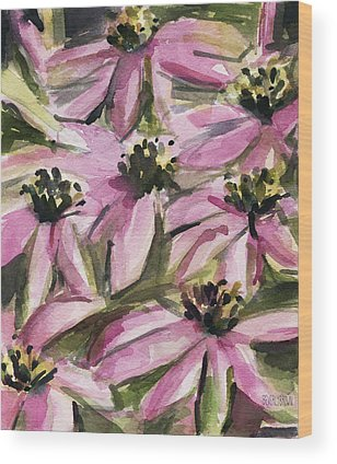 Coneflower Wood Prints