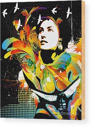 Woman Lingerie Wood Prints