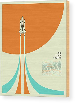 Space Shuttle Wood Prints