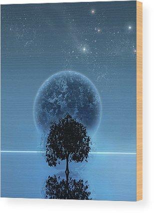 Space Wood Prints