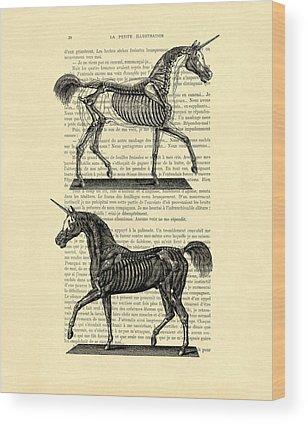 Anatomical Wood Prints