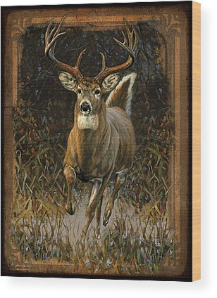 Whitetail Deer Wood Prints
