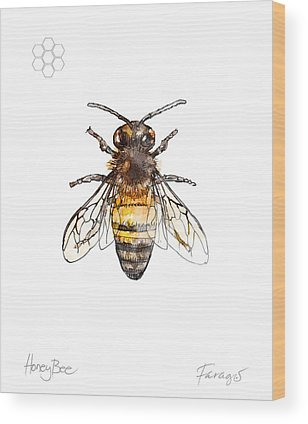 Honeybee Wood Prints
