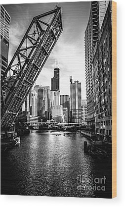 Chicago Black And White Wood Prints