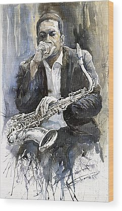 Saxophonist Wood Prints
