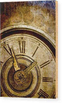 Clocks Wood Prints