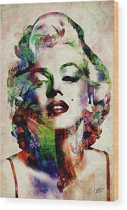 Marilyn Monroe Star Wood Prints