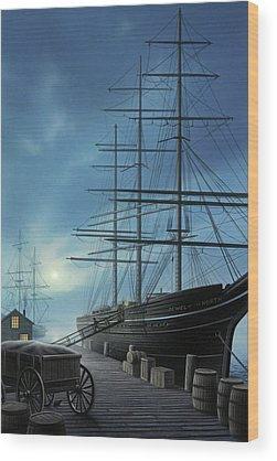 Ships Wheel Wood Prints