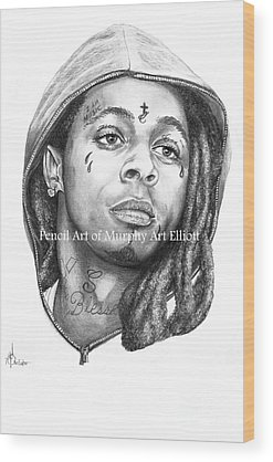 Lil Wayne Wood Prints