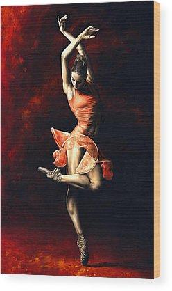 Ballet Dancer Wood Prints