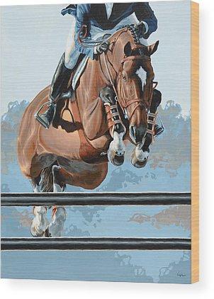 Horse Show Wood Prints