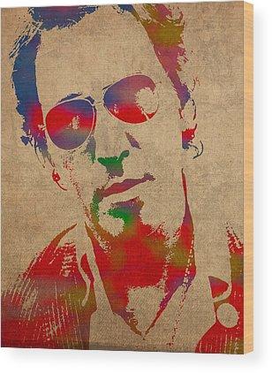 Springsteen Wood Prints