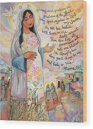 Canticle Of Mary Wood Prints