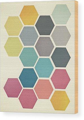 Honeycomb Wood Prints