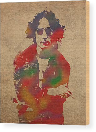 John Lennon Wood Prints
