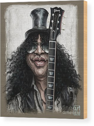 Music Rock Guns N Roses Wood Prints