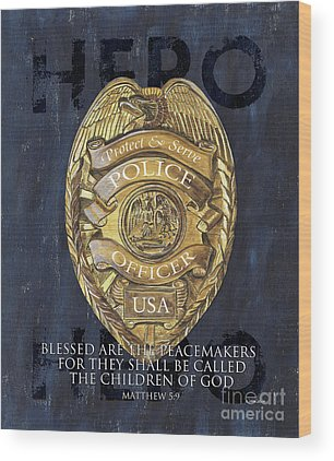 Police Wood Prints