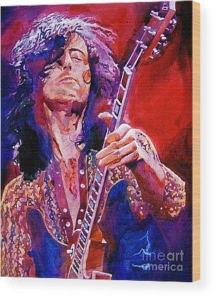 Led Zeppelin Rock Wood Prints