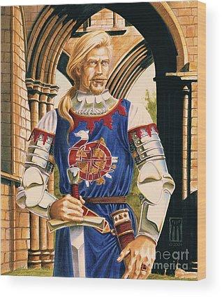 Sir Dinadan Wood Prints