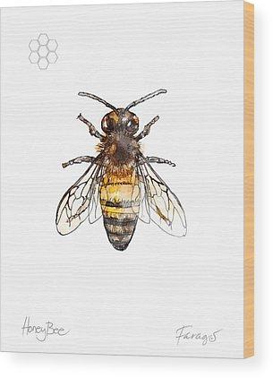 Honeybee Wood Prints