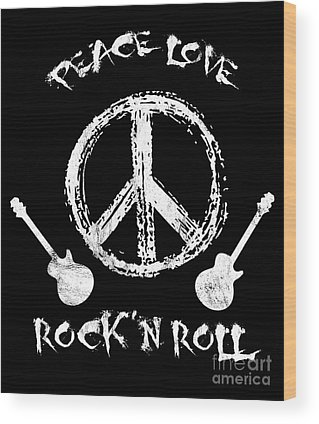 Rockn Roll Wood Prints