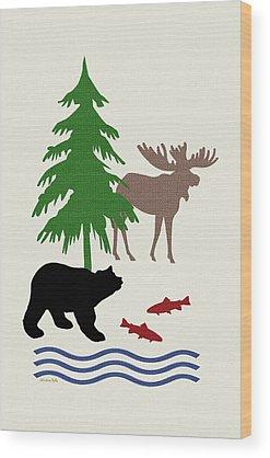 Bear Country Wood Prints