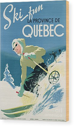 Winter Sports Drawings Wood Prints
