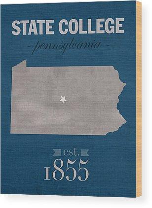 Penn State University Wood Prints