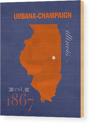University Of Illinois Wood Prints