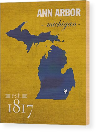 University Of Michigan Wood Prints