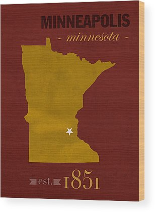University Of Minnesota Wood Prints