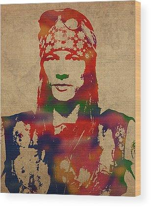 Axl Rose Wood Prints