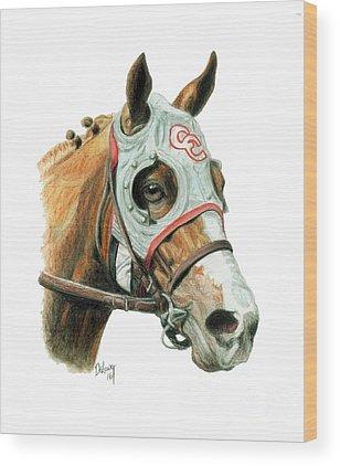 Horse Racing Wood Prints