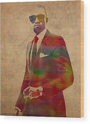 Kanye West Wood Prints