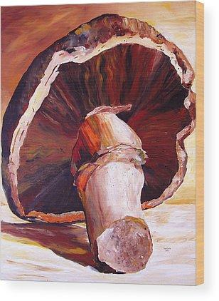 Mushroom Wood Prints