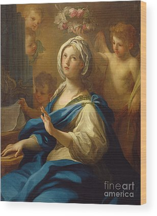 Saint Cecilia Wood Prints