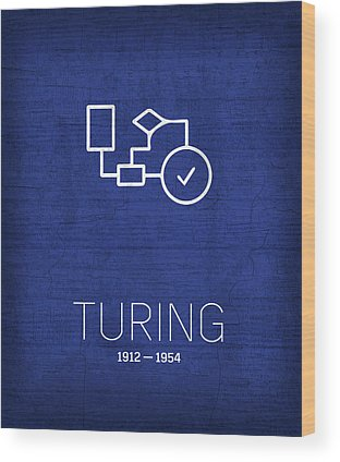 Alan Turing Wood Prints