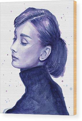 Audrey Hepburn Wood Prints