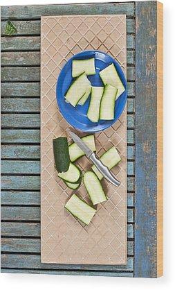 Zucchini Wood Prints