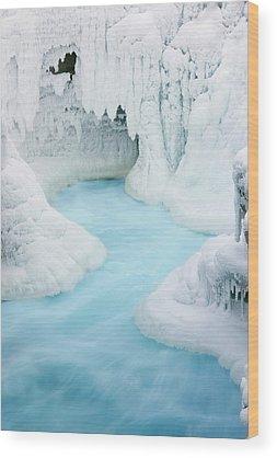 Athabasca Falls Wood Prints