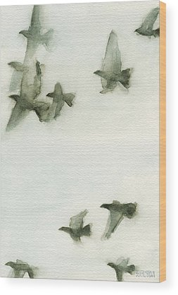 Bird Abstracts Wood Prints