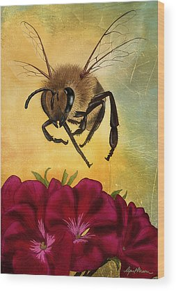 Honeybees Wood Prints