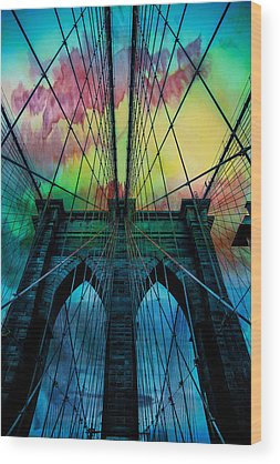 Red Bridge Wood Prints