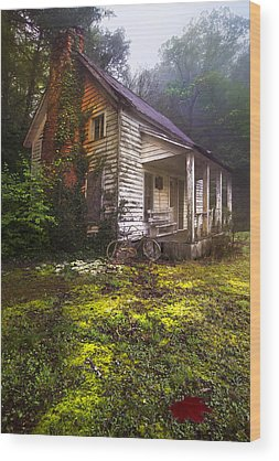 Cabin In The Woods Wood Prints