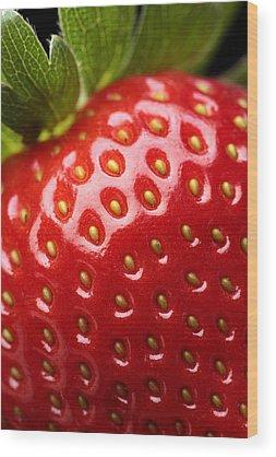 Strawberry Wood Prints