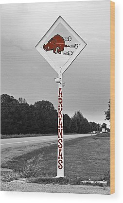 Arkansas Razorbacks Wood Prints