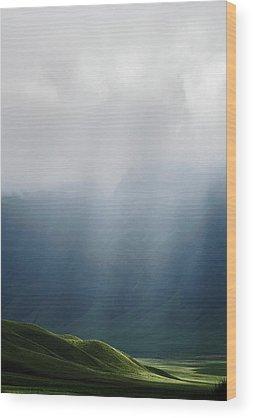 Hillside Wood Prints