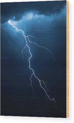 Electricity Wood Prints