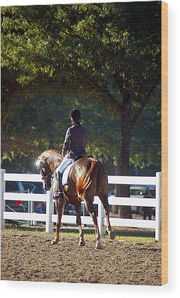 Hanovarian Dressage Horse Wood Prints